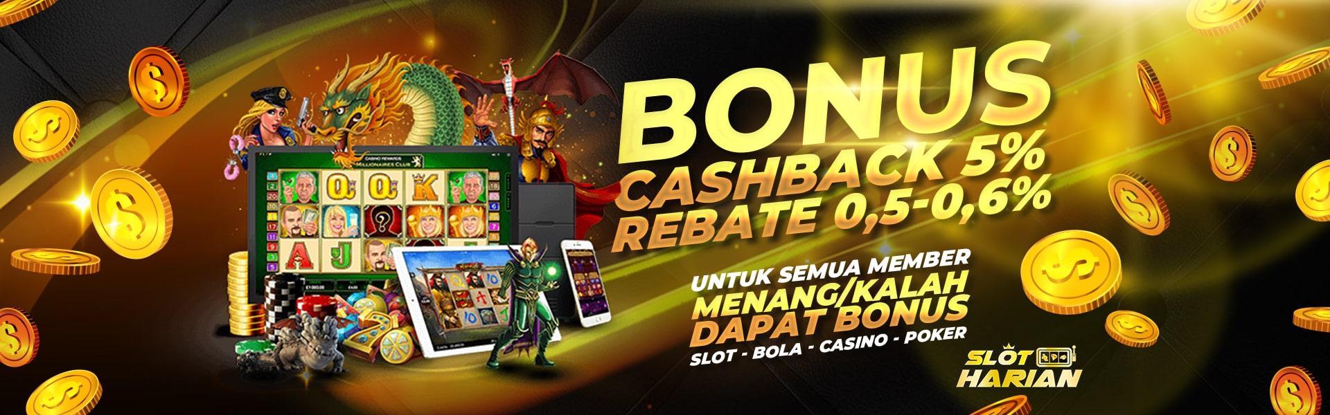 Slot Harian Promosi Duo Bonus Cashback Rebate